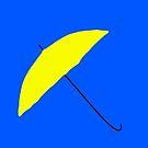 Yellow Umbrella by Nicholas Fontaine