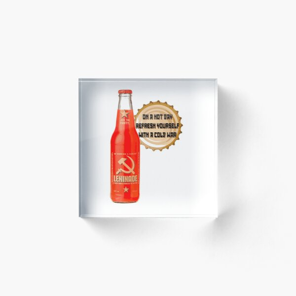 Leninade Communist Drink Acrylic Block
