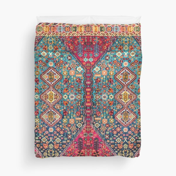 Oriental Colored Traditional Antique Moroccan Style Fabric Design Duvet Cover