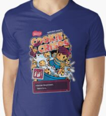 Cookie Crisps Mens V-Neck T-Shirt