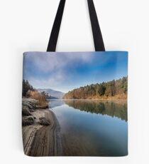 Morning at the river Tote Bag