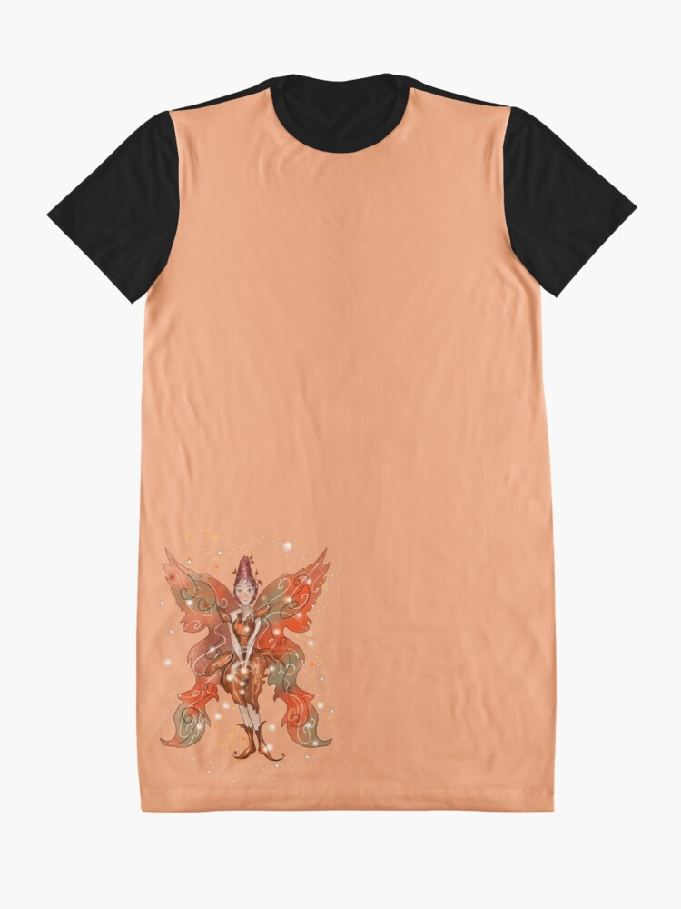 Alternate view of Faylin The Thanksgiving/Fall Fairy™ Graphic T-Shirt Dress