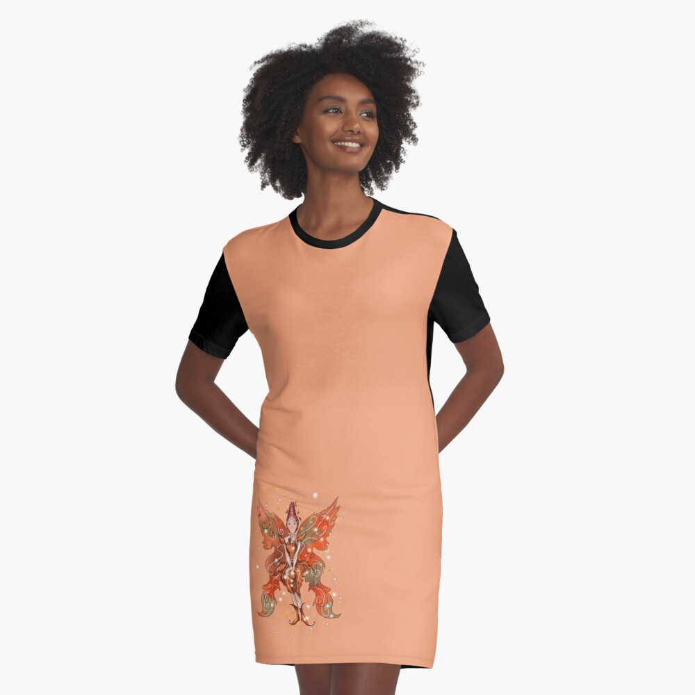 Faylin The Thanksgiving/Fall Fairy™ Graphic T-Shirt Dress
