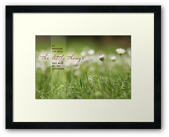The Little Things in Marriage (Greeting Card) by Tracy Friesen