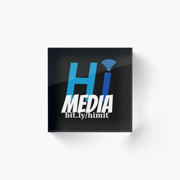 HI Media Logo Acrylic Block