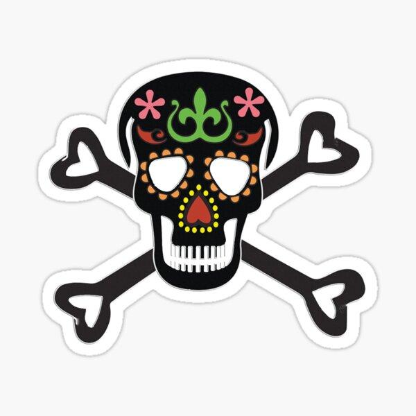 Black Candy Skull Sticker