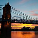 Sunset in Cincinnati by thatche2