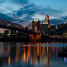 John A. Roebling Suspension Bridge Reflection by thatche2