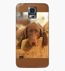 Cutie Pup - The world's Cutest Chocolate Lab Case/Skin for Samsung Galaxy