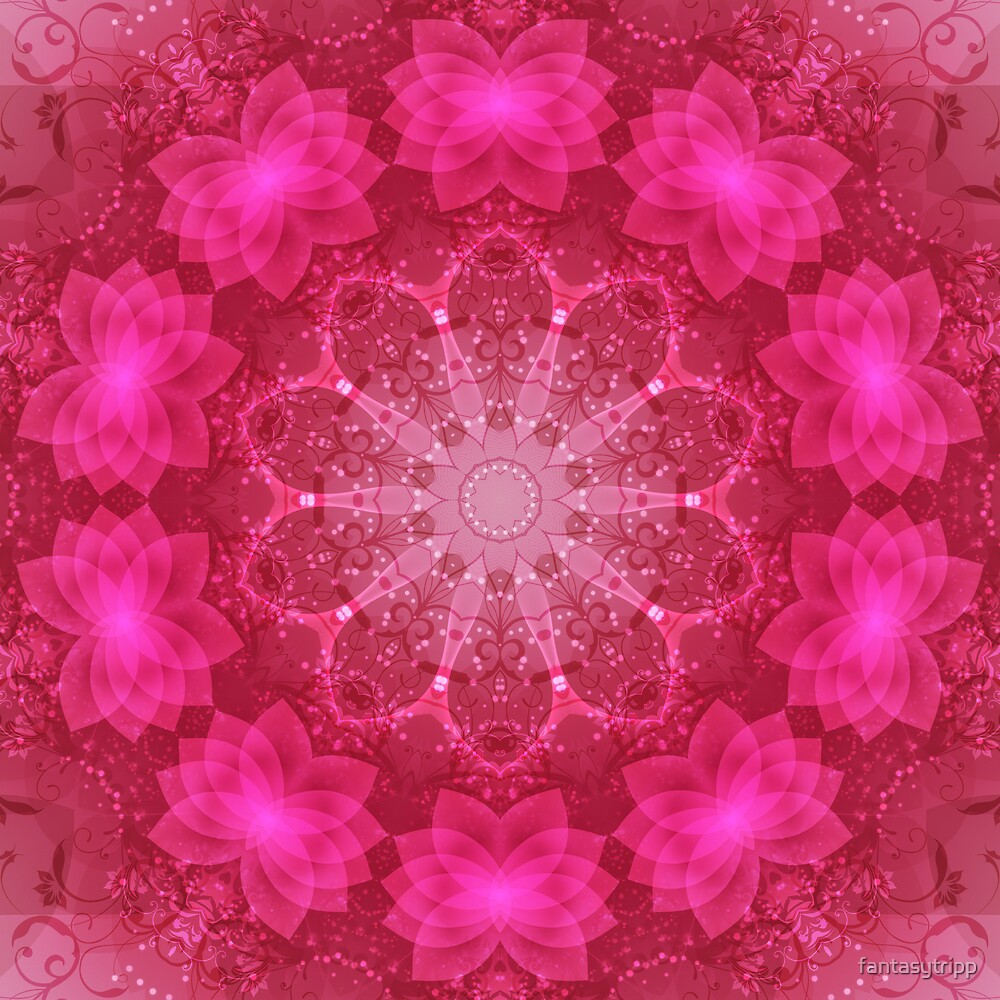 Pink Delight Kaleidoscope 01 by fantasytripp
