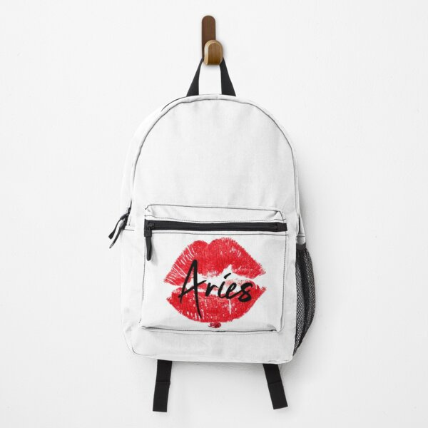 Aries zodiac sign & kissing lips design  Backpack
