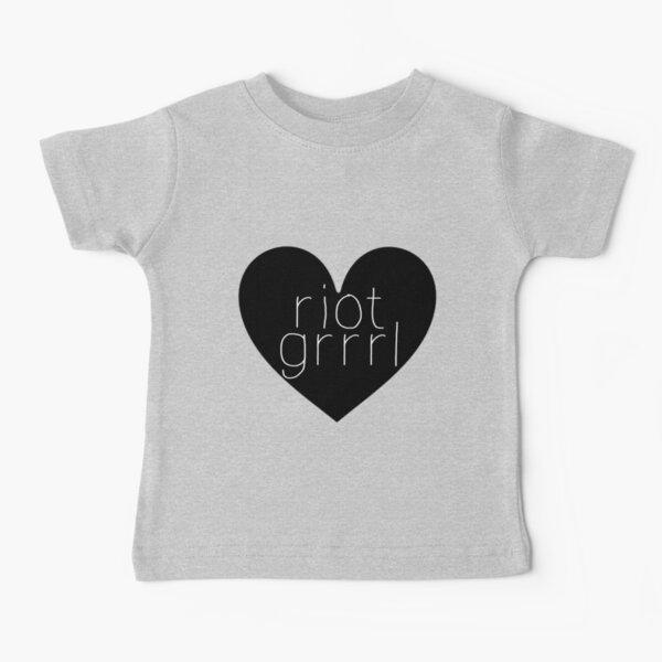 Riot Grrrl - White Text Baby T-Shirt