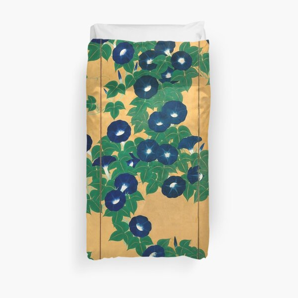 Morning Glories by Suzuki Kiitsu Duvet Cover