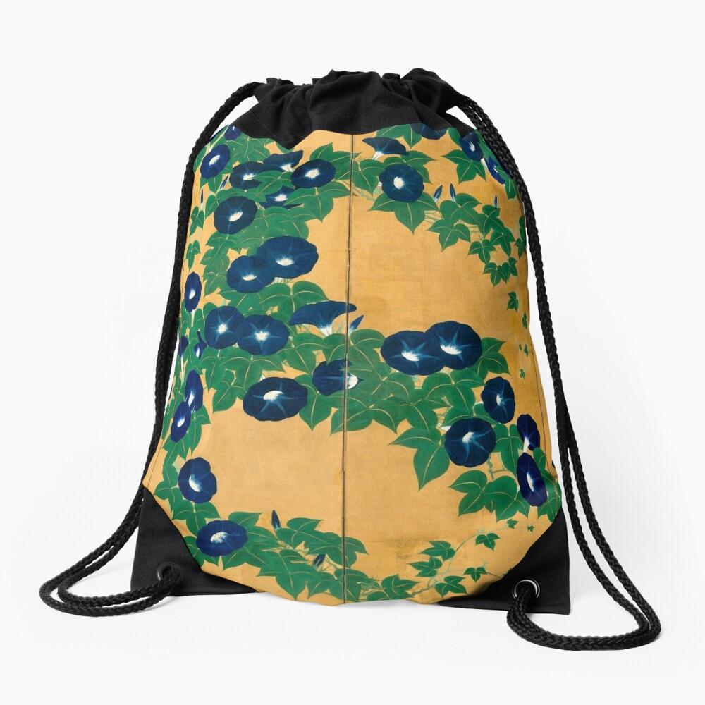 Morning Glories by Suzuki Kiitsu Drawstring Bag