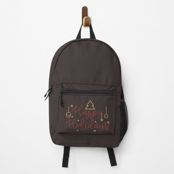 Wishes Happy Holidays Backpack