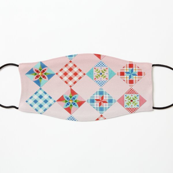 Country Days Patchwork on Pink Kids Mask