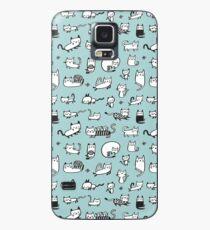 Blue Kitties Case/Skin for Samsung Galaxy