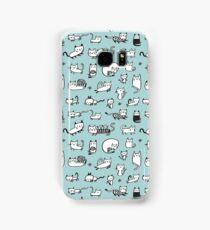 Blue Kitties Samsung Galaxy Case/Skin