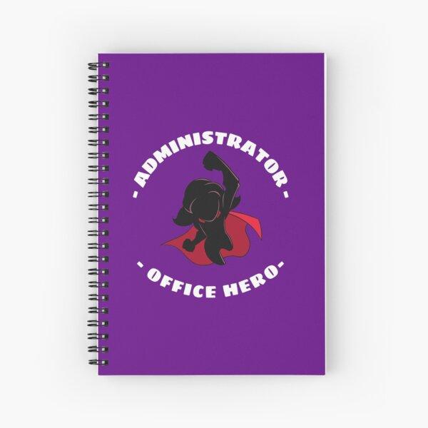 Office Administrator Super Hero Funny Appreciation - Female Spiral Notebook