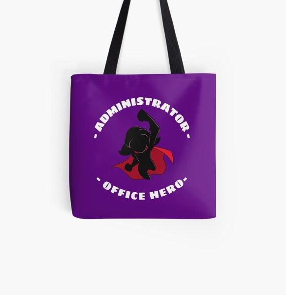 Office Administrator Super Hero Funny Appreciation - Female All Over Print Tote Bag