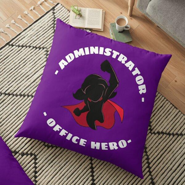 Office Administrator Super Hero Funny Appreciation - Female Floor Pillow
