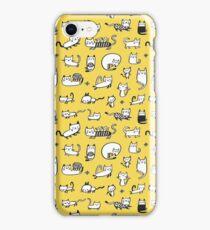 Yellow Kitties iPhone Case/Skin