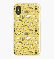 Yellow Kitties iPhone Case