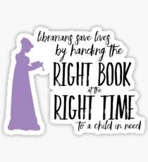 Librarians - Saving Lives Sticker