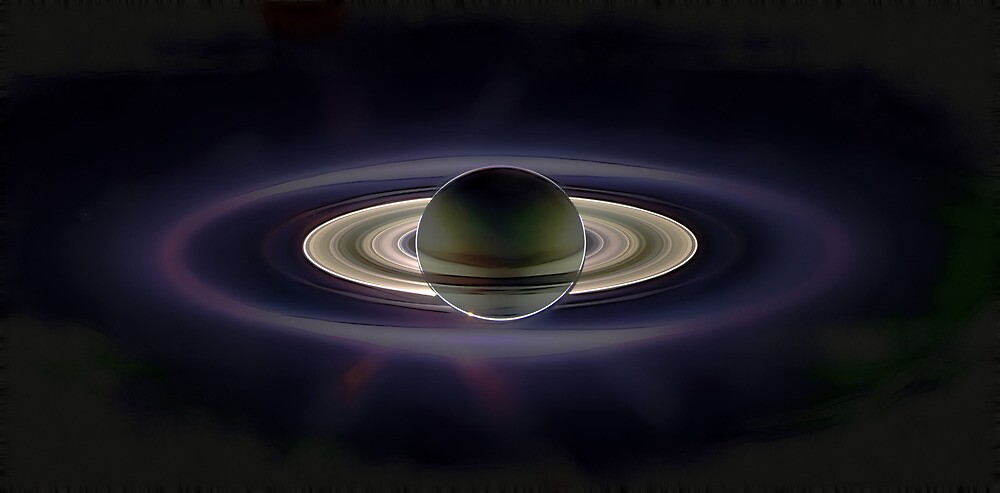 Saturn Eclipse by Benedikt Amrhein