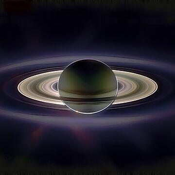 Saturn Eclipse by Benedam1975