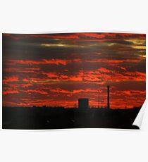 sunset over prague Poster