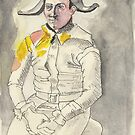 Postcard from Europe - Harlequin by Picasso by Gary Shaw