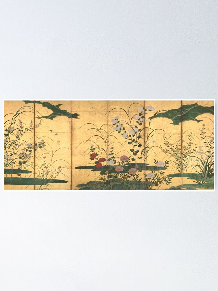 Alternate view of Flowers and Grasses of the Four Seasons Poster