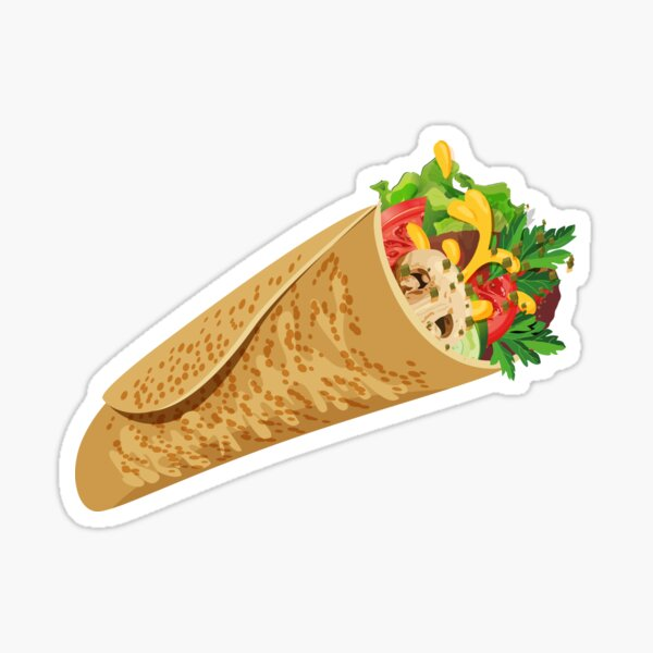 Shawarma Wrap Sticker