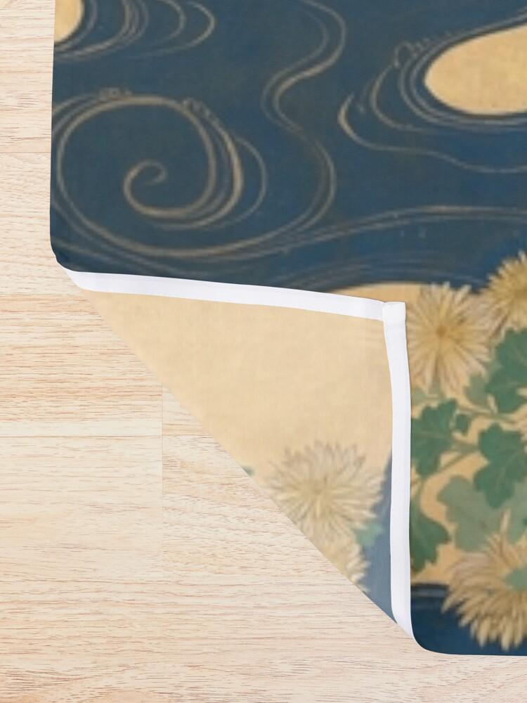Alternate view of Paulownias and Chrysanthemums 桐菊流水図屏風  Shower Curtain
