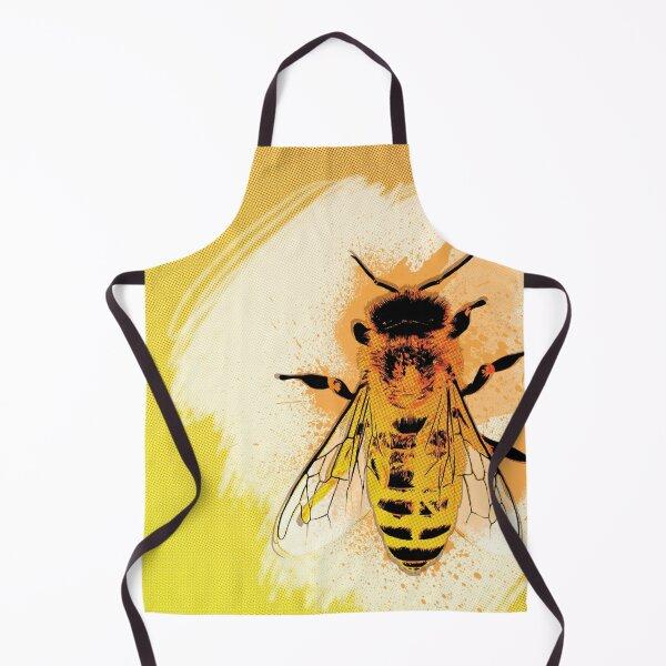 Honey Bee Bright Yellow Art Apron
