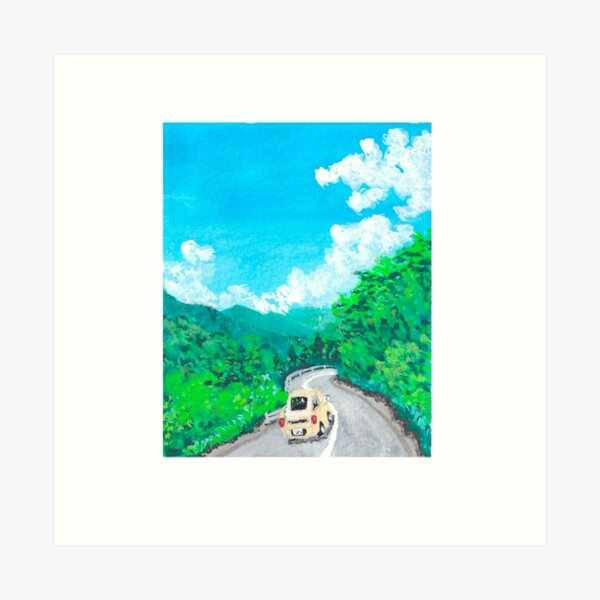 Little Landscape (Highway) Art Print