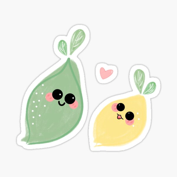 Citrons mignons Sticker