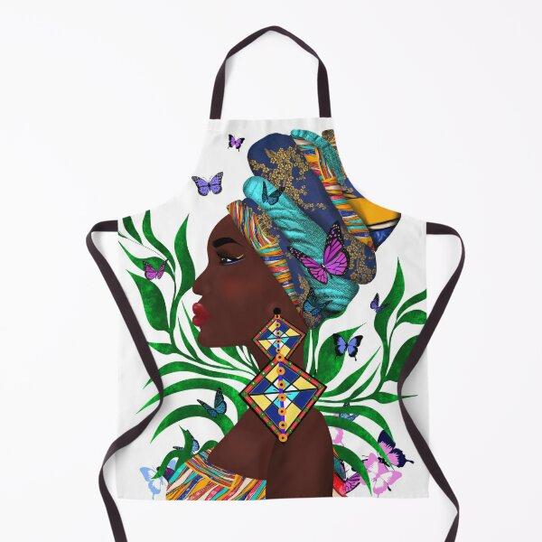 African woman art.Nigerian fashion.Home decor. Apron