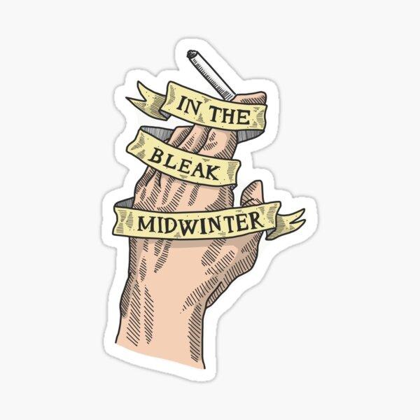 """Peaky Blinders Smoking Hand """"In the Bleak Midwinter"""" Sticker"""