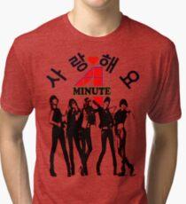 ㋡♥♫SaRangHaeYo(Love) Hot Fabulous K-Pop Girl Group-4Minute Clothing & Stickers♪♥㋡ Tri-blend T-Shirt
