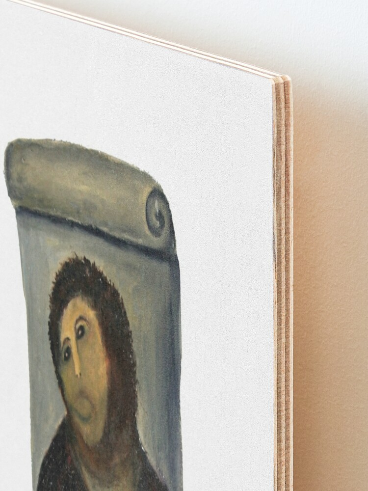 Alternate view of ecce homo restoration Mounted Print