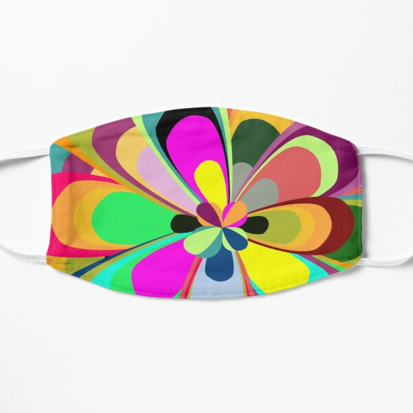 Psychedelic Flower Flat Mask