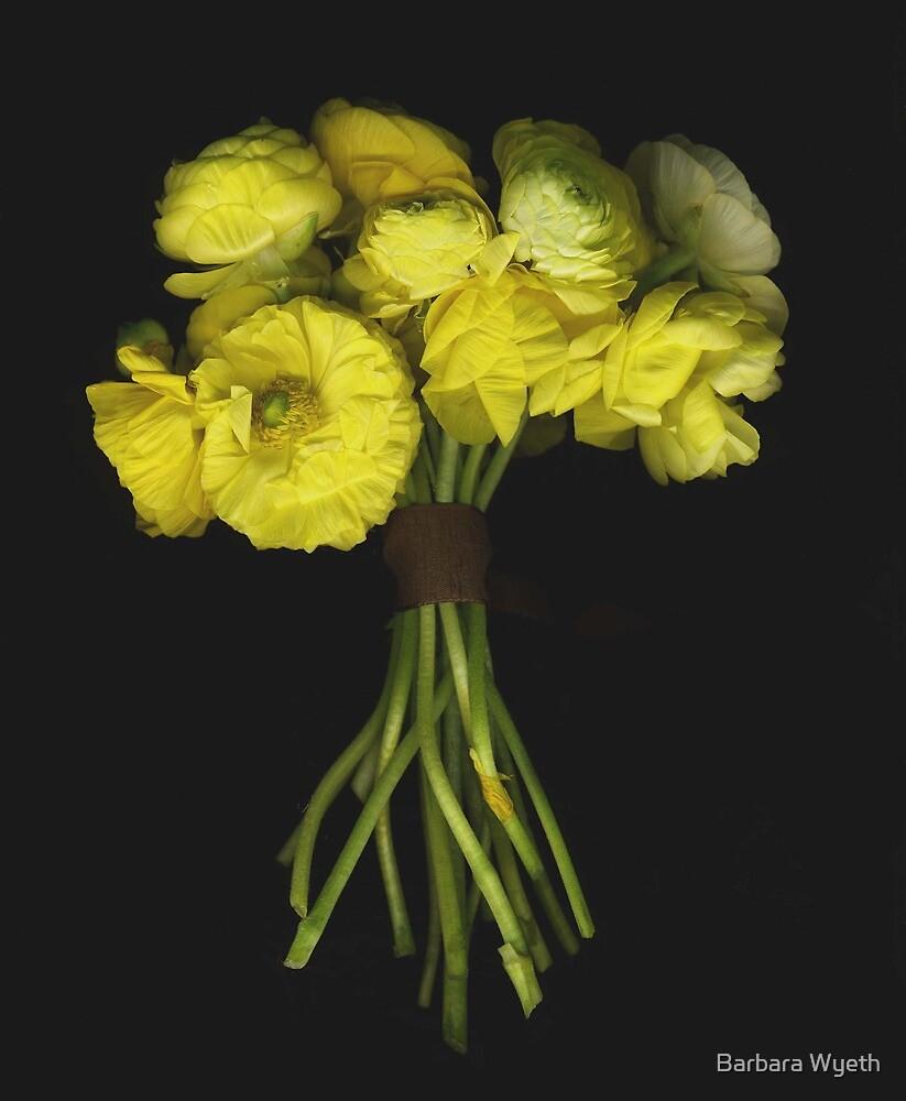 Nosegay of Yellow Ranunculas by Barbara Wyeth