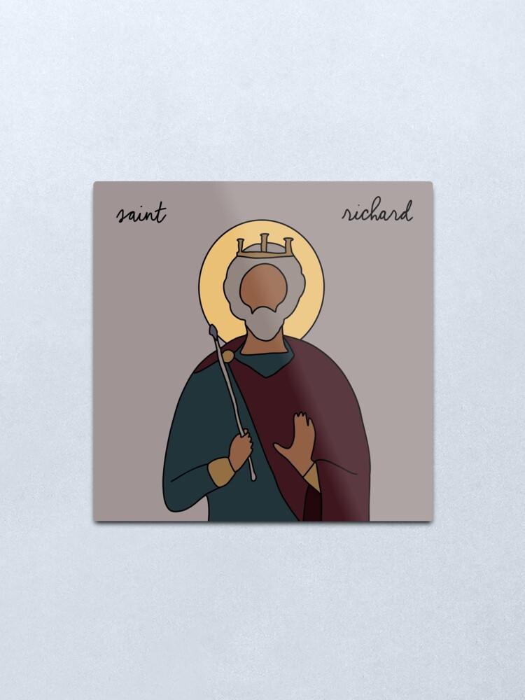 Alternate view of Saint Richard Metal Print