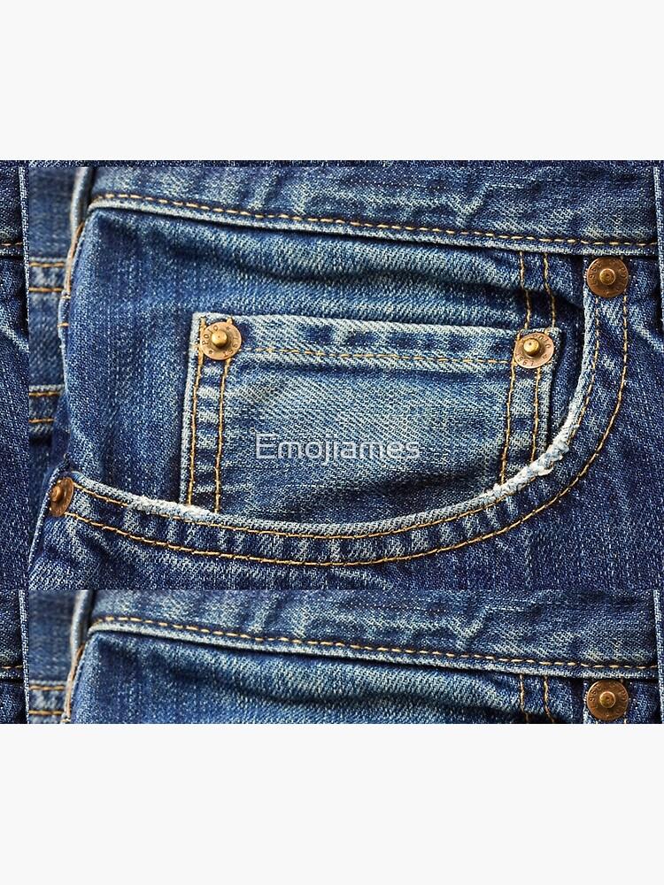blue jean pocket by Emojiames