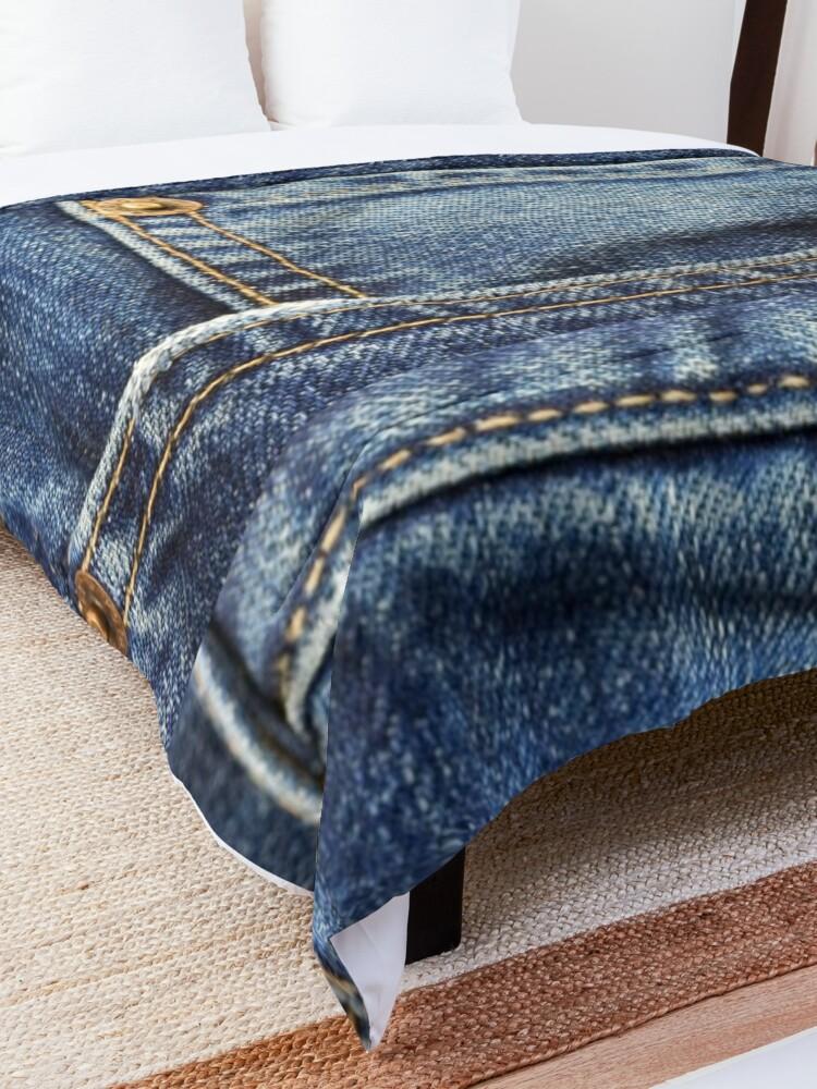 Alternate view of blue jean pocket Comforter