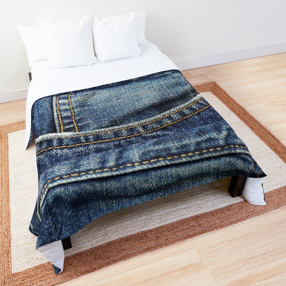 blue jean pocket Comforter