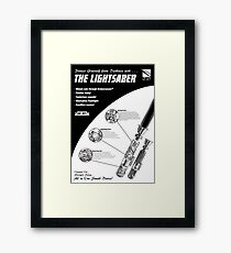 Star Wars Lightsaber Retro Ad Framed Print