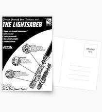 Star Wars Lightsaber Retro Ad Postcards